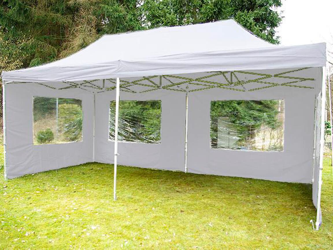 Udlejning / leje af pavillon med sider. 3x6m.