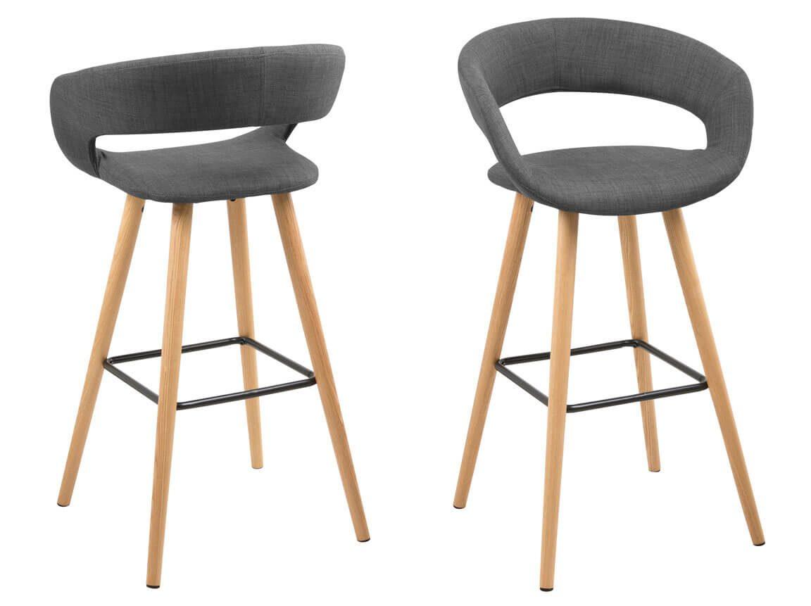 Udlejning / leje af høj grå barstol. Lejepris pr. dag kr. 175,-