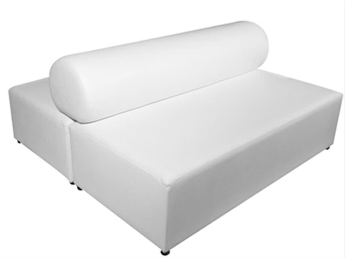 Udlejning / leje af dobbelt sofa i læderlook. Dobbeltlounger. Lejepris pr. dag kr. 1.495,-