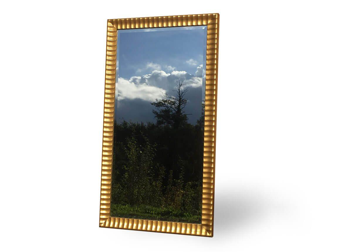 Udlejning / leje af stort spejl i guldramme. Lejepris pr. dag kr. 295,-