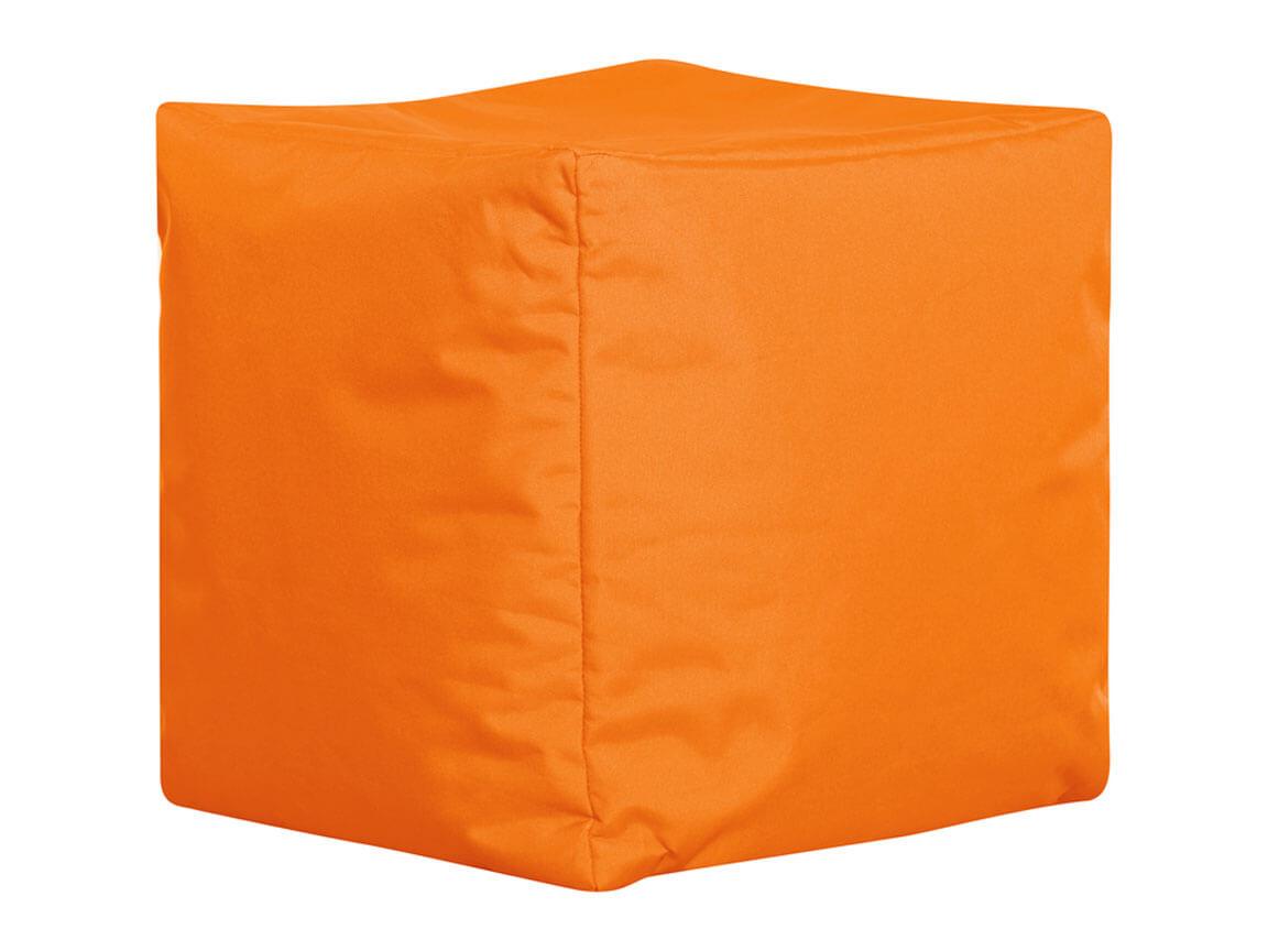 Udlejning / leje af sækkestol som cube. Orange.