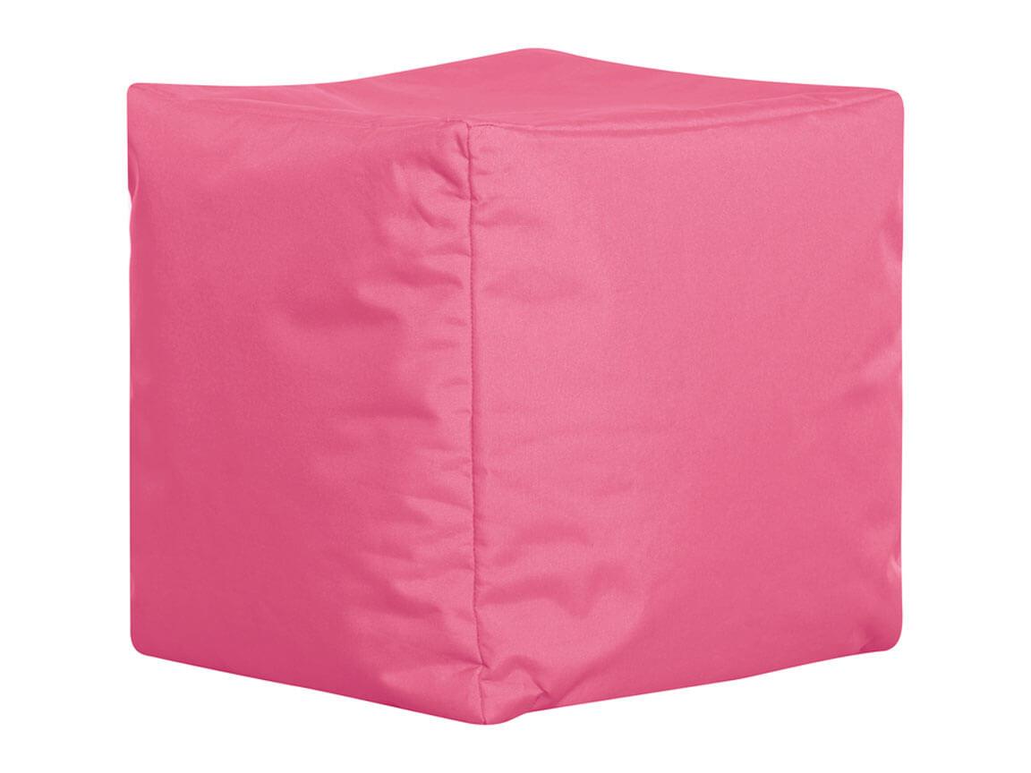 Udlejning / leje af sækkestol som cube. Pink.