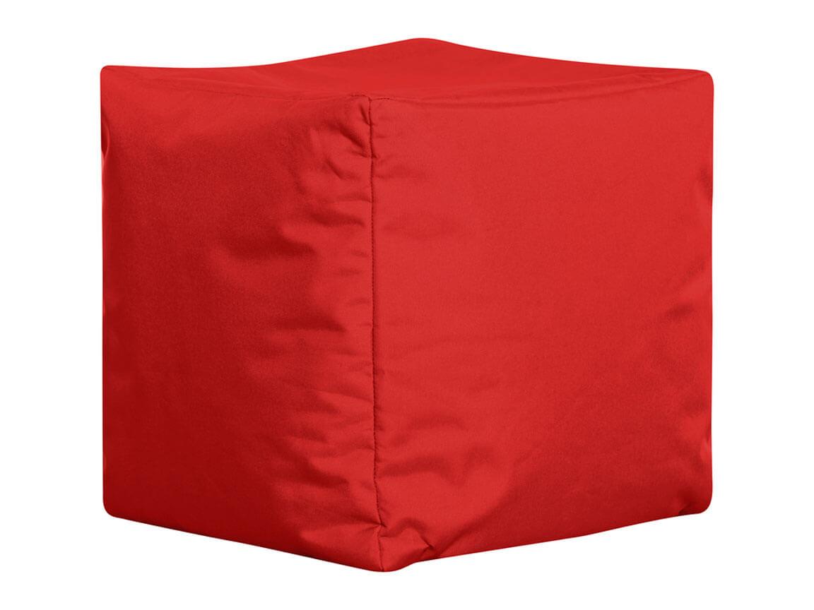 Udlejning / leje af sækkestol som cube. Rød.