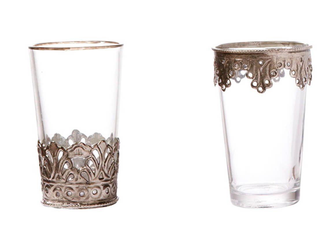 Udlejning / leje af orientalske te-glas og vaser. Flere størrelser, modeller og farver. Lejepris pr. dag kr. 10,-