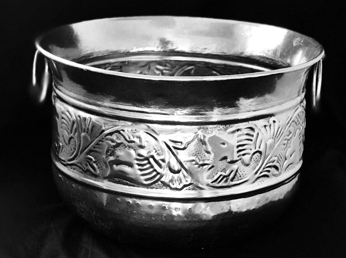 Udlejning / leje af sølv bowle. Fantastisk dekorativ