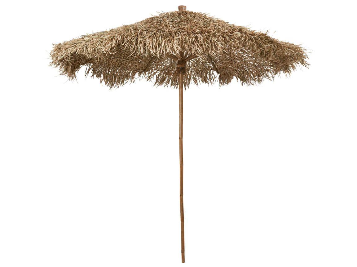 Udlejning / leje af bambus parasol. Vildt flot parasol i bambus udlejes. Oplagt til temafesten. Lejepris pr. dag kr. 600,-