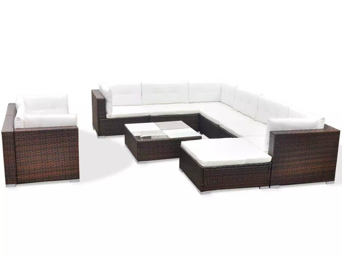 Udlejning / leje af havesofasæt / loungesæt. Samlet sæt med hynder. Lejepris pr. dag kr. 2.950,-