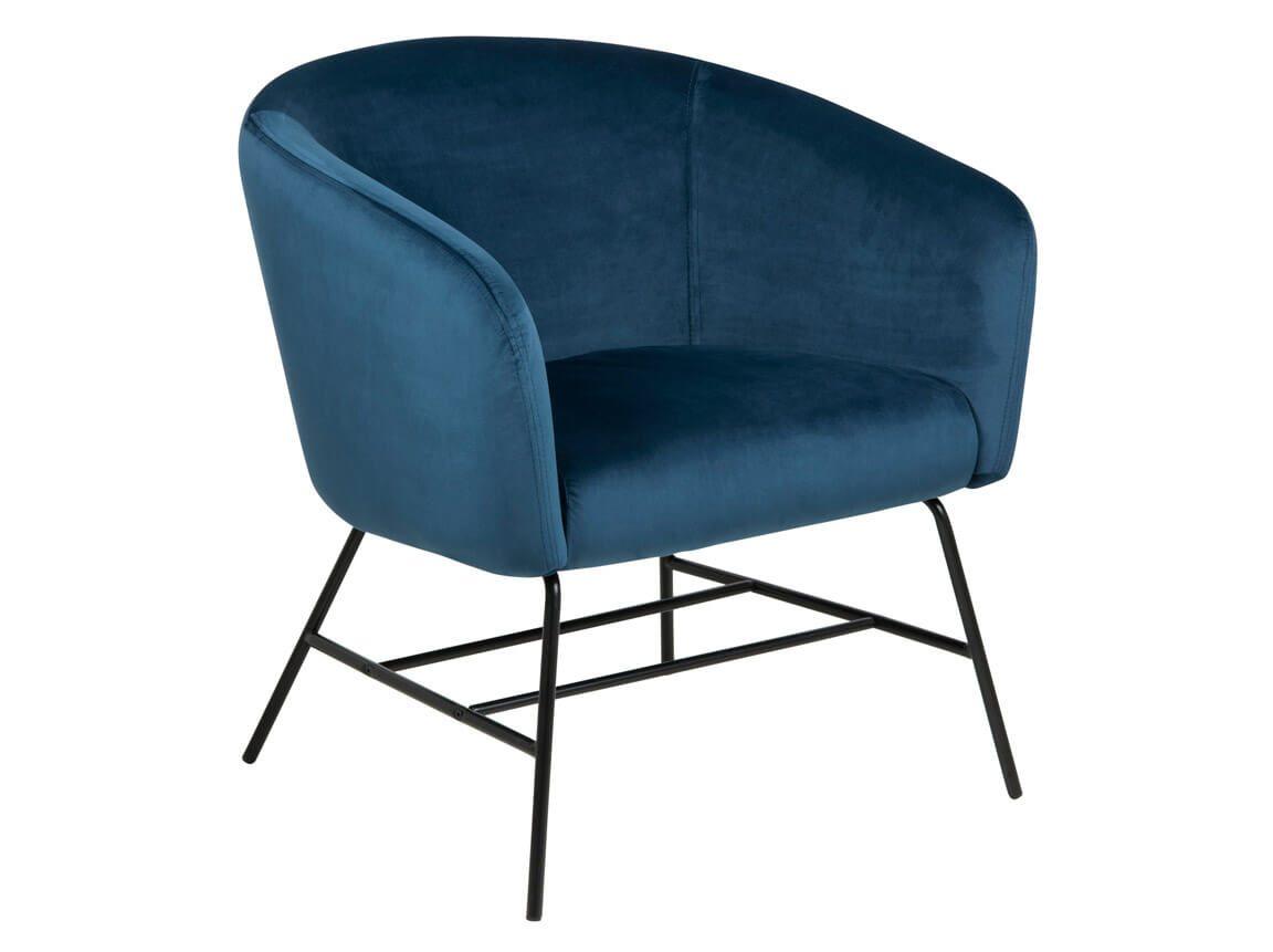 Udlejning / leje af blå velour hvilestol. Super flot stol i blå velour. Perfekt sammen med vores mosaikbord. Lejepris pr. dag kr. 575,-