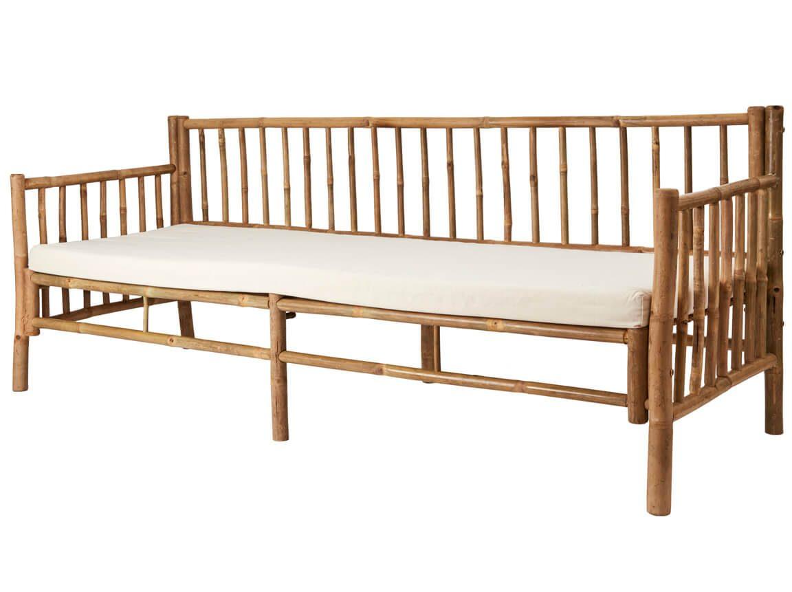 Udlejning / leje af sofa i bambus. Rigtig flot 3 personers bambus sofa udlejes. Oplagt til loungeopstillingen. Lejepris pr. dag kr. 1125,-