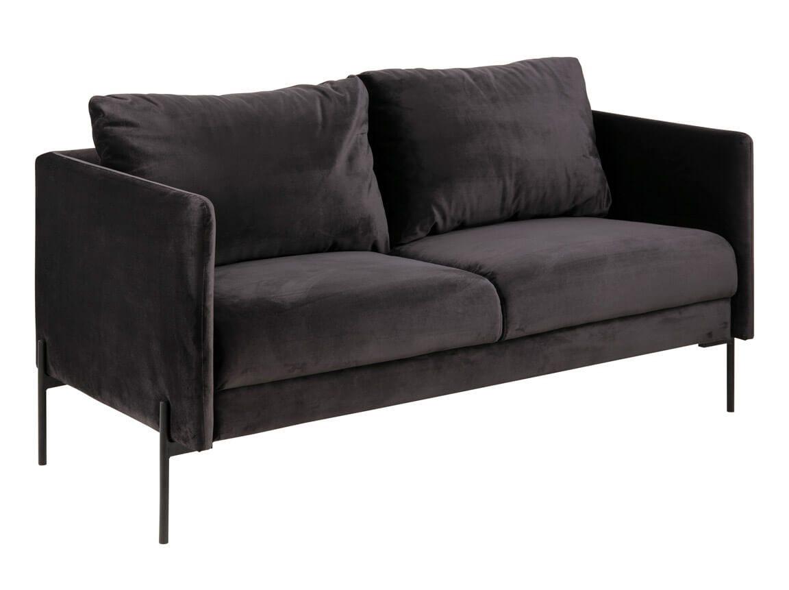 Udlejning / leje af sofa i mørkegrå velour. Elegant og tidssvarende sofa. Oplagt til messe eller fest. Lejepris pr. dag kr. 1.295,-