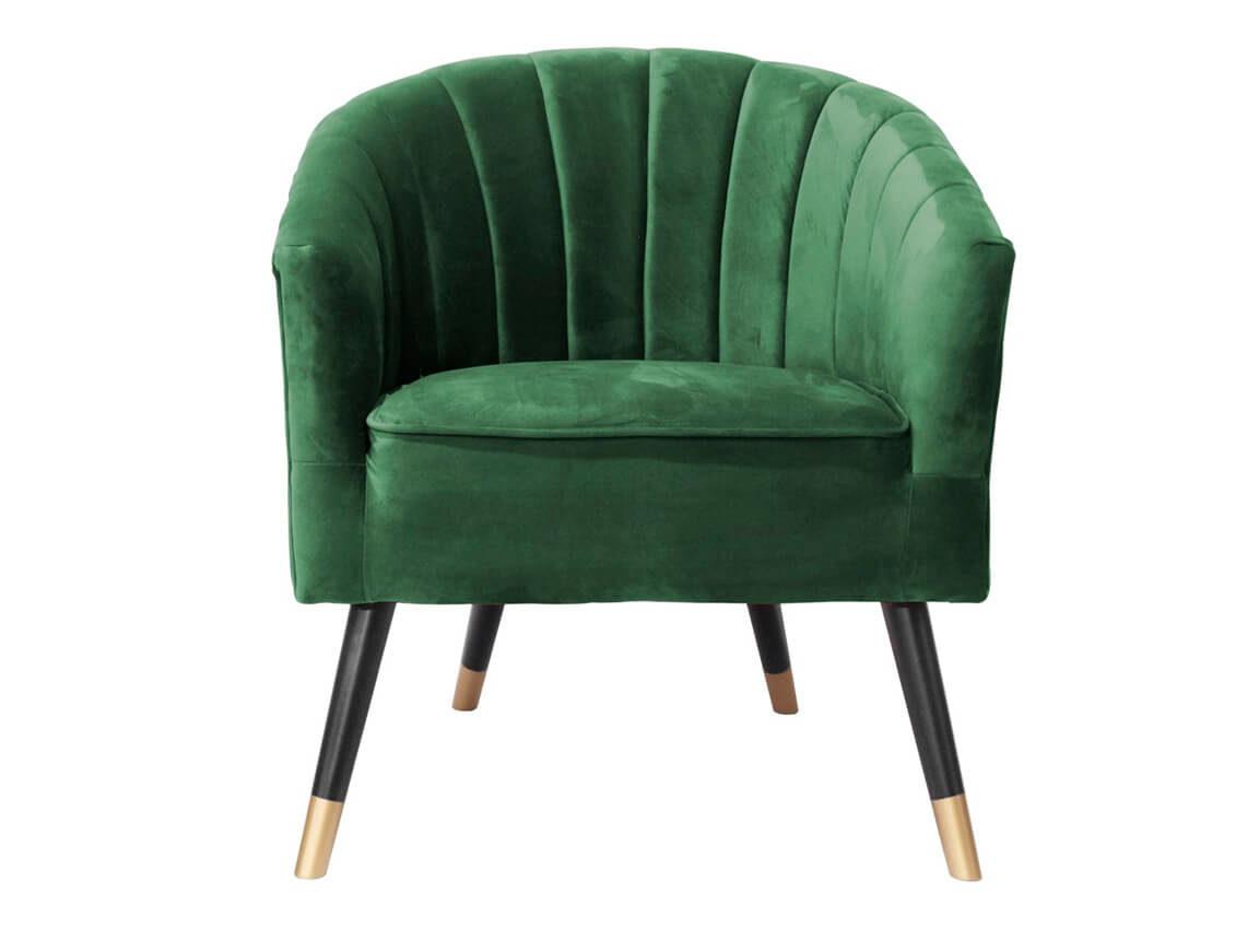 Udlejning / leje af armstol i grøn velour. Flot armstol udlejes. Se også matchende sofaer og chaiselong. Lejepris pr. dag kr. 695,-