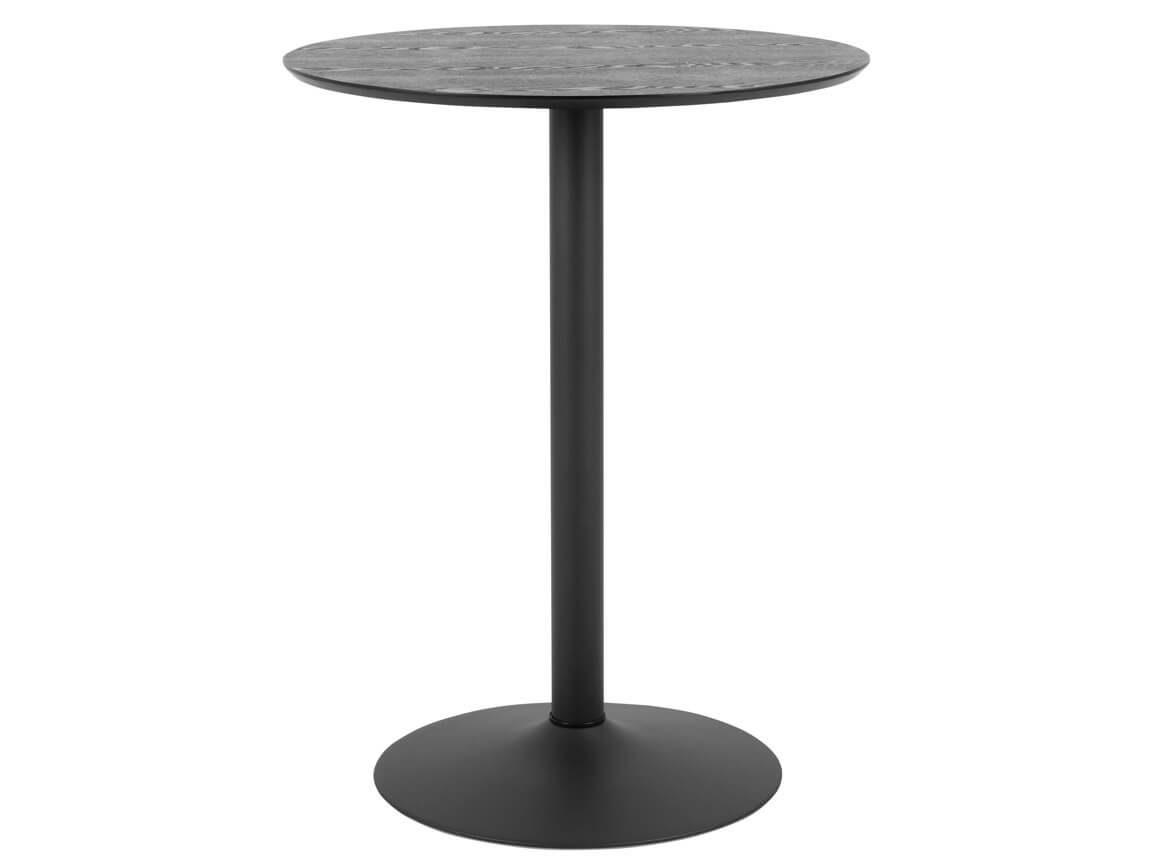 Udlejning / leje af sort cafébord med sort trumpetfod. Lejepris pr. dag kr. 295,-
