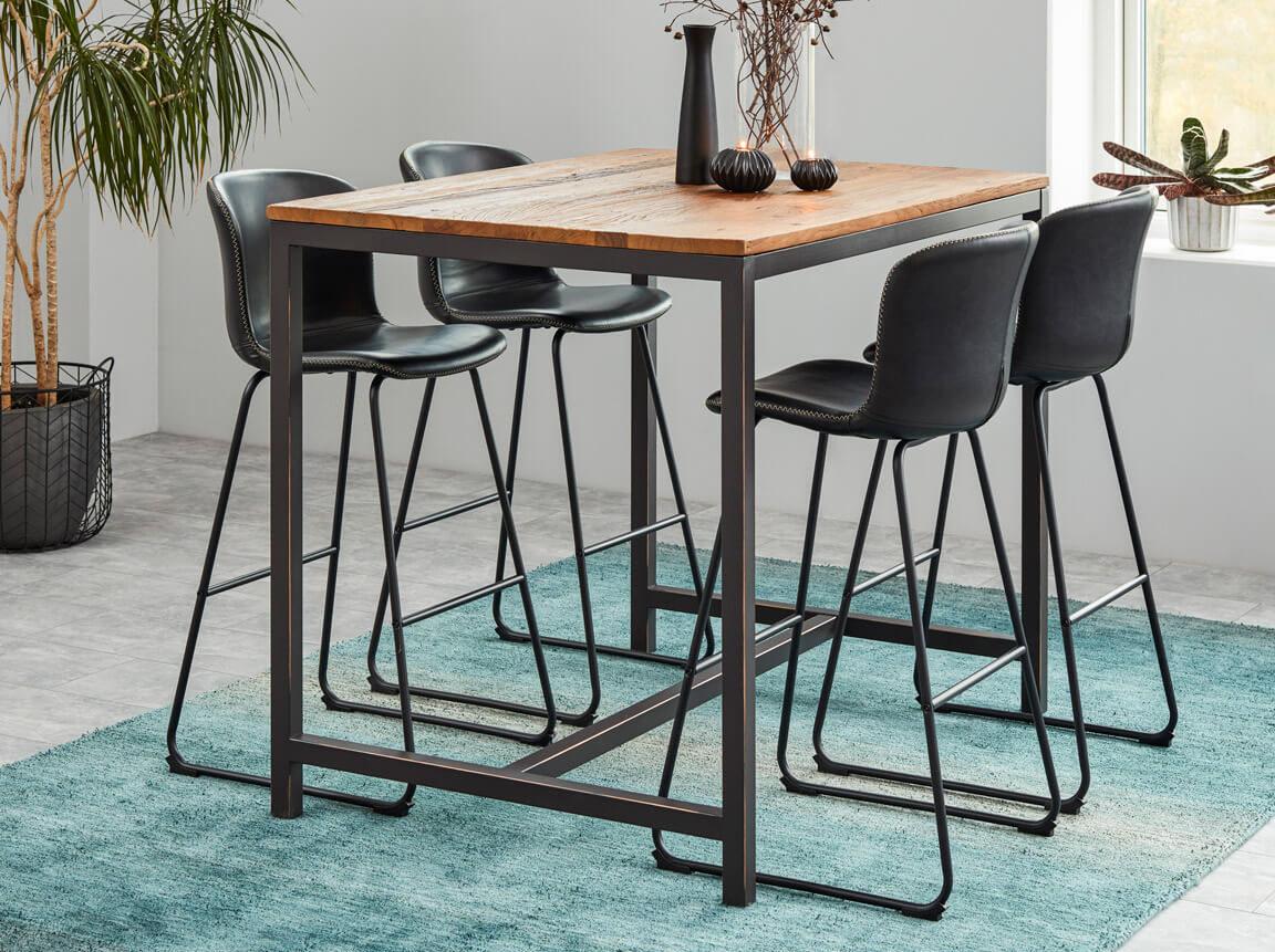 Udlejning / leje af plankebord - barbord. Opstilling med barstole. Lejepris pr. dag kr. 750,-
