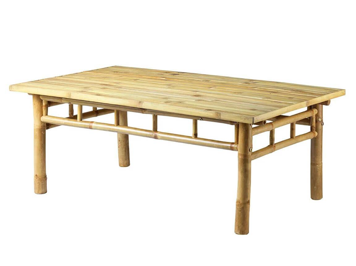 Udlejning / leje af bord i bambus. Rigtig flot sofabord i bambus udlejes. Passer perfekt til vores sofaer og stole. Lejepris pr. dag kr. 550,-