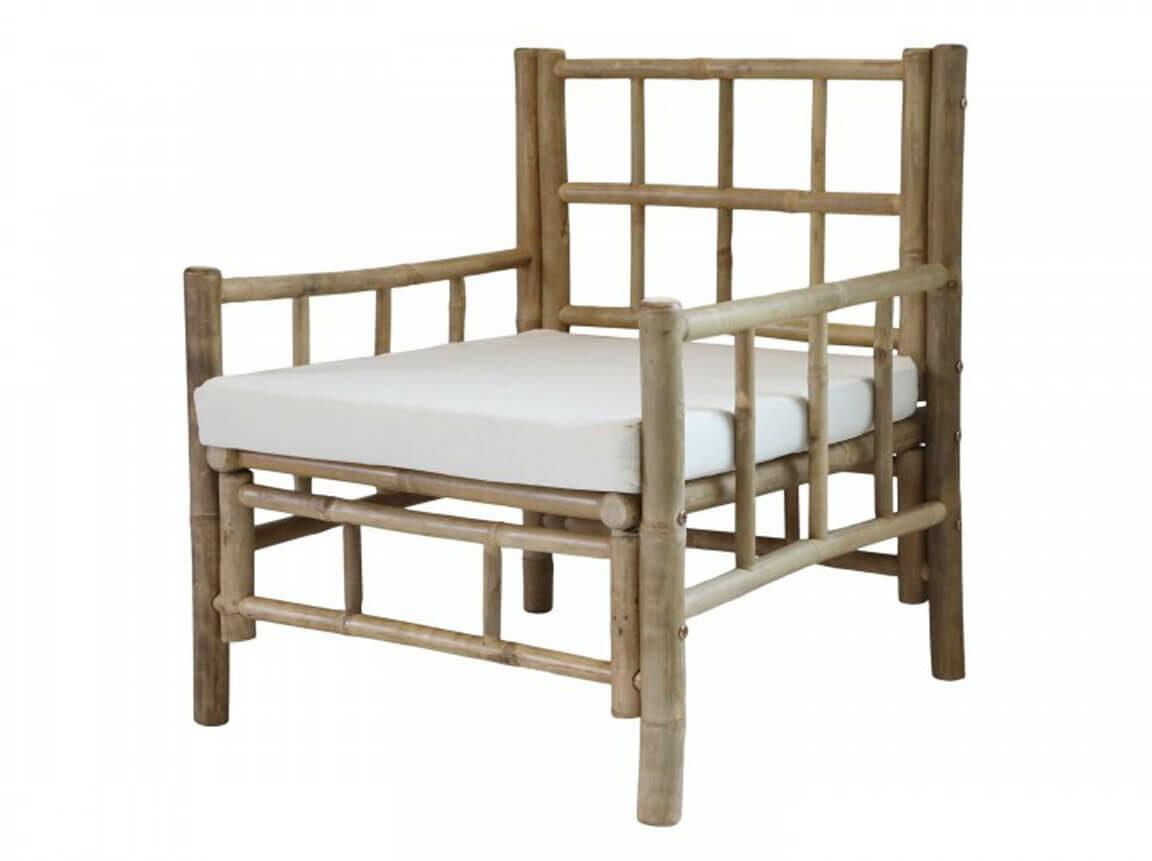 Udlejning / leje af stol i bambus. Rigtig flot bambus stol udlejes. Perfekt til din sommer lounge. Lejepris pr. dag kr. 550,-